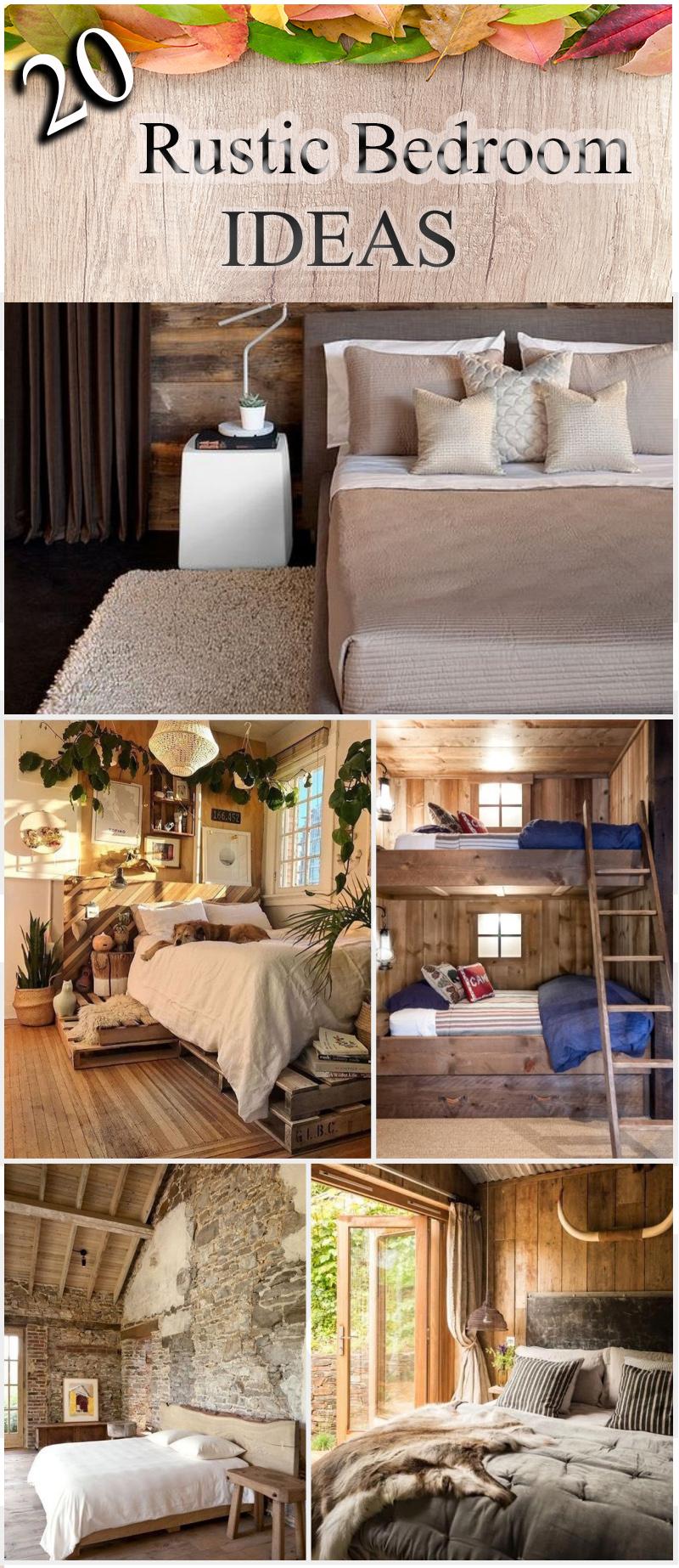 Rustic Kids Bedrooms 20 Creative Cozy Design Ideas: 20 Rustic Bedroom Ideas For Creative People