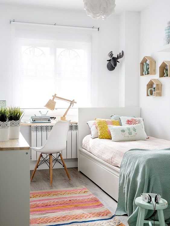 20 Unique Girls Bedroom Ideas You Might Want to Try ... on Small Room Ideas For Girls  id=65098