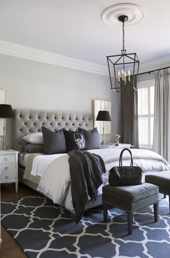 That Simple Chandelier Grey Bedroom Ideas