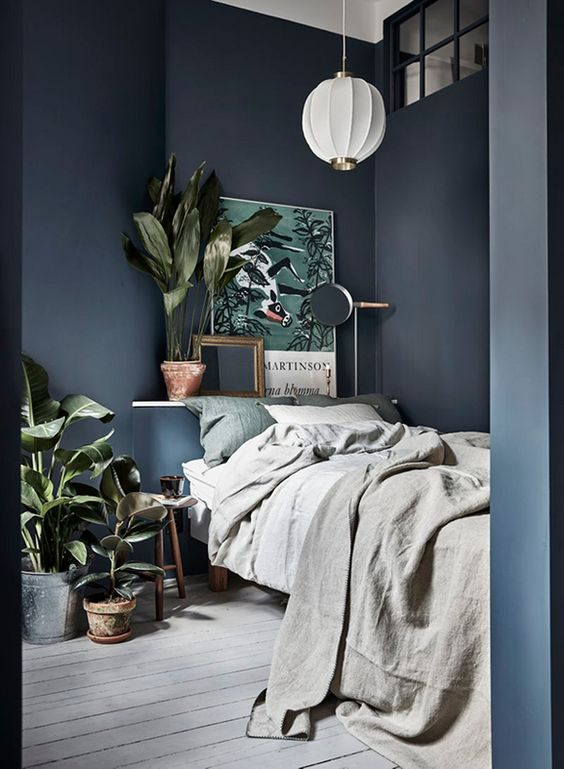 Dark grey bedroom ideas