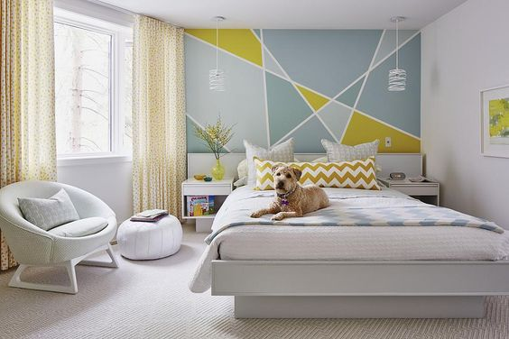 The Symmetrical Pattern | Bedroom Paint Ideas