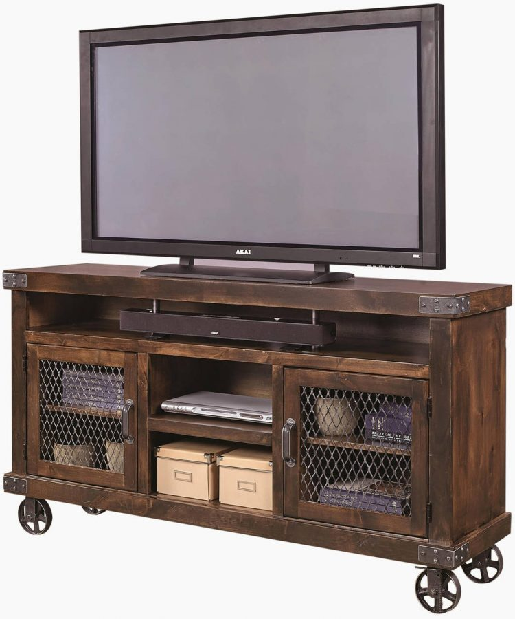 DIY TV Stand with Chicken Wires