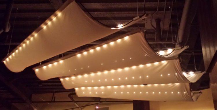 Fabric Basement Ceiling