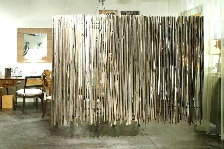 Rustic Hanging Room Divider