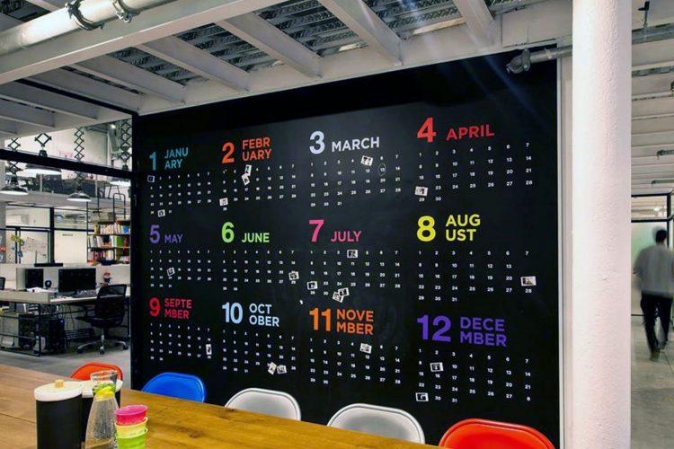 Calendar Board Office Decoration Ideas