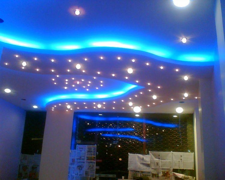Neon Lights Basement Ceiling