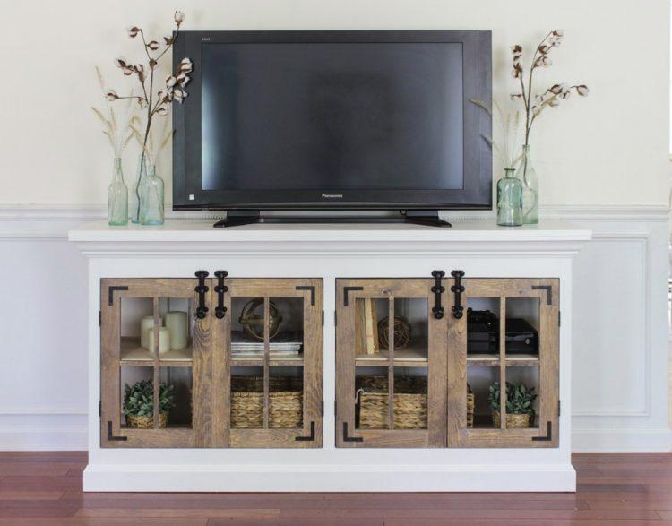 DIY TV Stand Farmhouse Style
