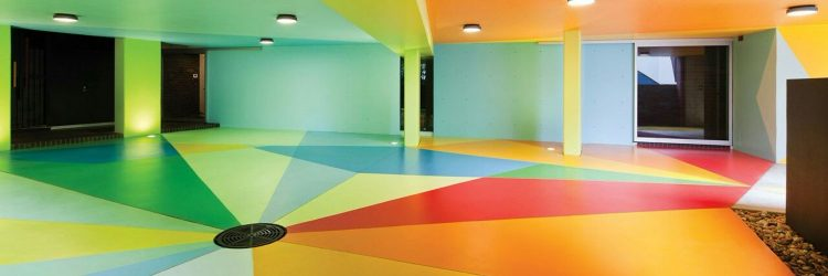 Colourful Ceiling for Basement