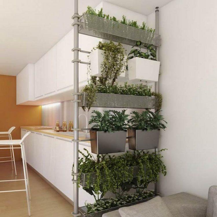Open Shelves for Plants Room Divider