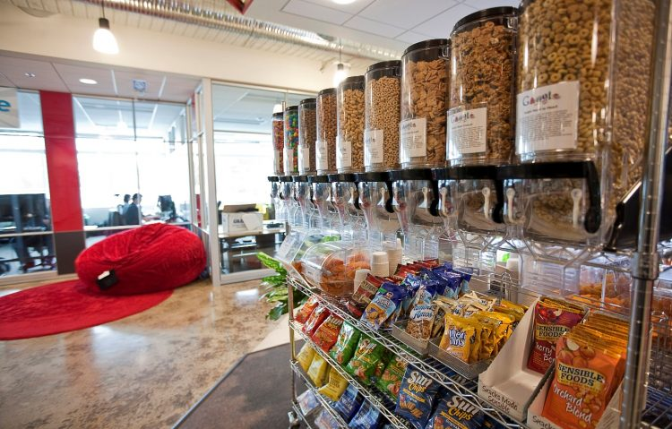 Snack Display Office Decoration Ideas