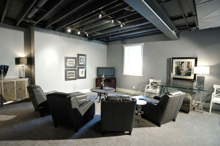 Black Basement Ceiling