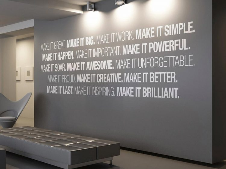 Quotes Wall Office Decorating Ideas