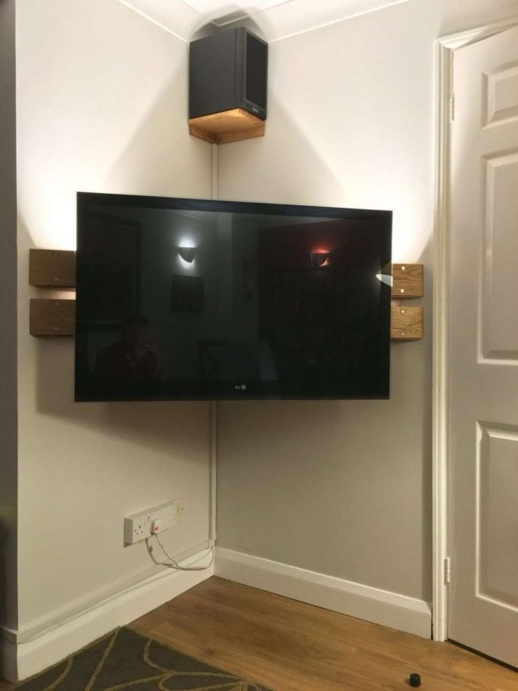 Easy DIY TV Stand for The Corner Room