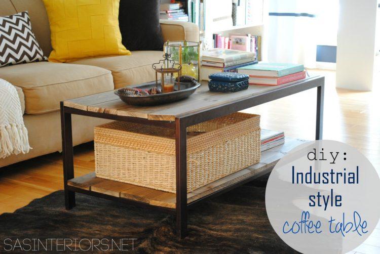 mid century coffee table diy