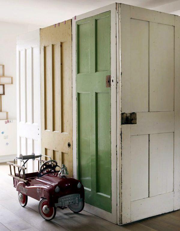 Recycle Doors as Screen Divider