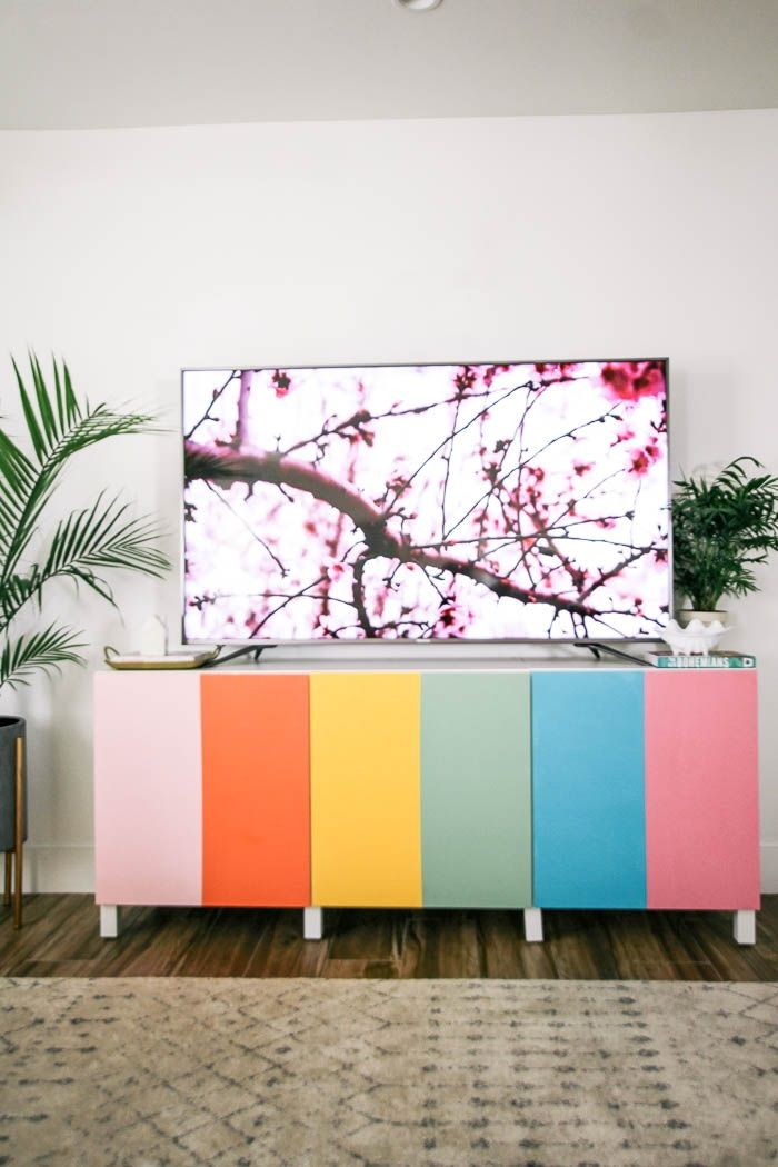 DIY Colourful TV Stand