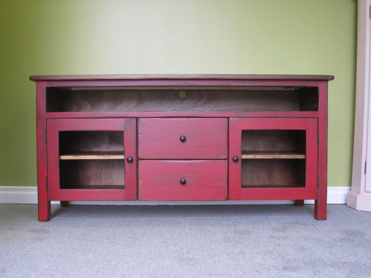 DIY TV Stand with Reuse Furniture