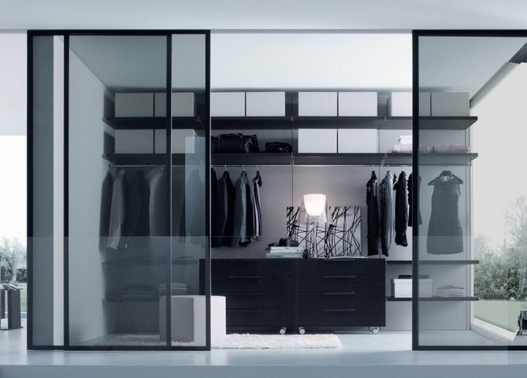 Black and White Closet Door