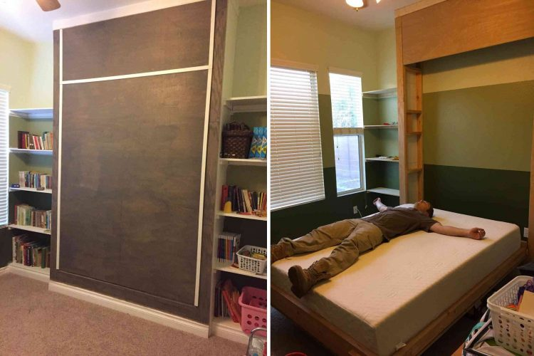 DIY Wall Frame Bed