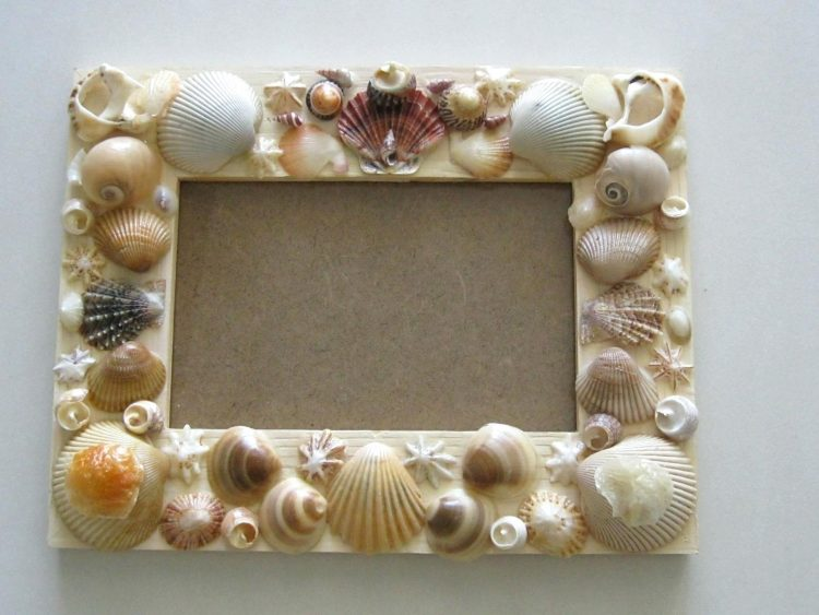 Seashells DIY Picture Frame