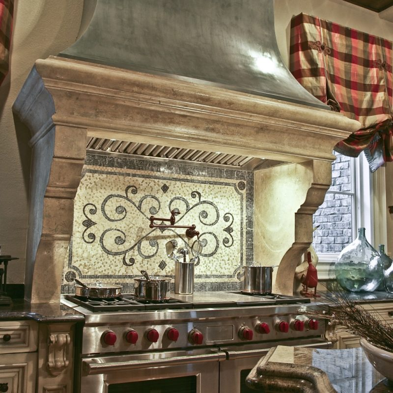 Astonishing Tuscany Styled Kitchen Backsplash