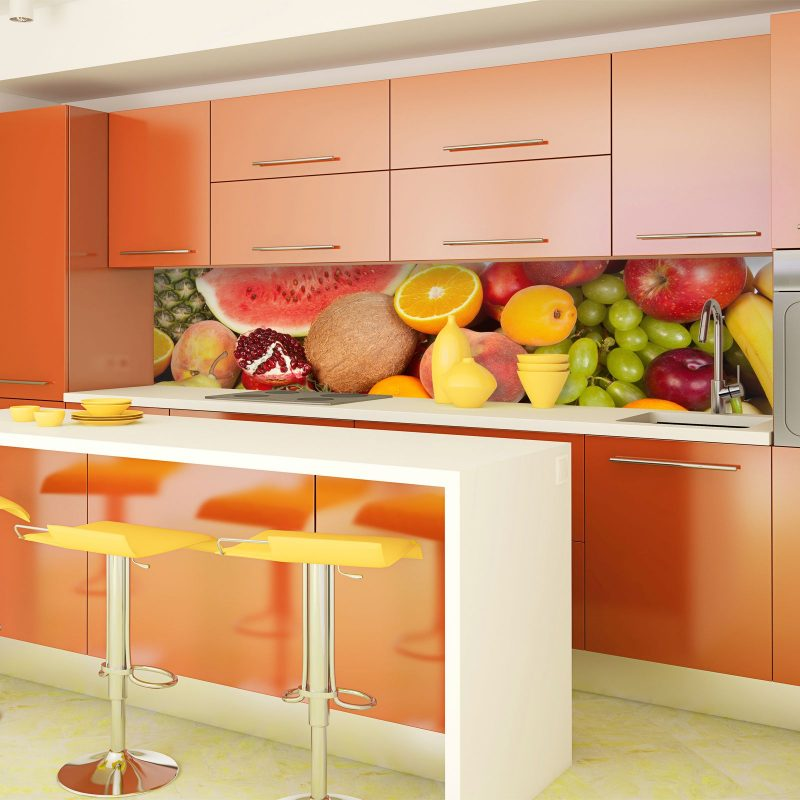 Adorable Colorful Backsplash Kitchen