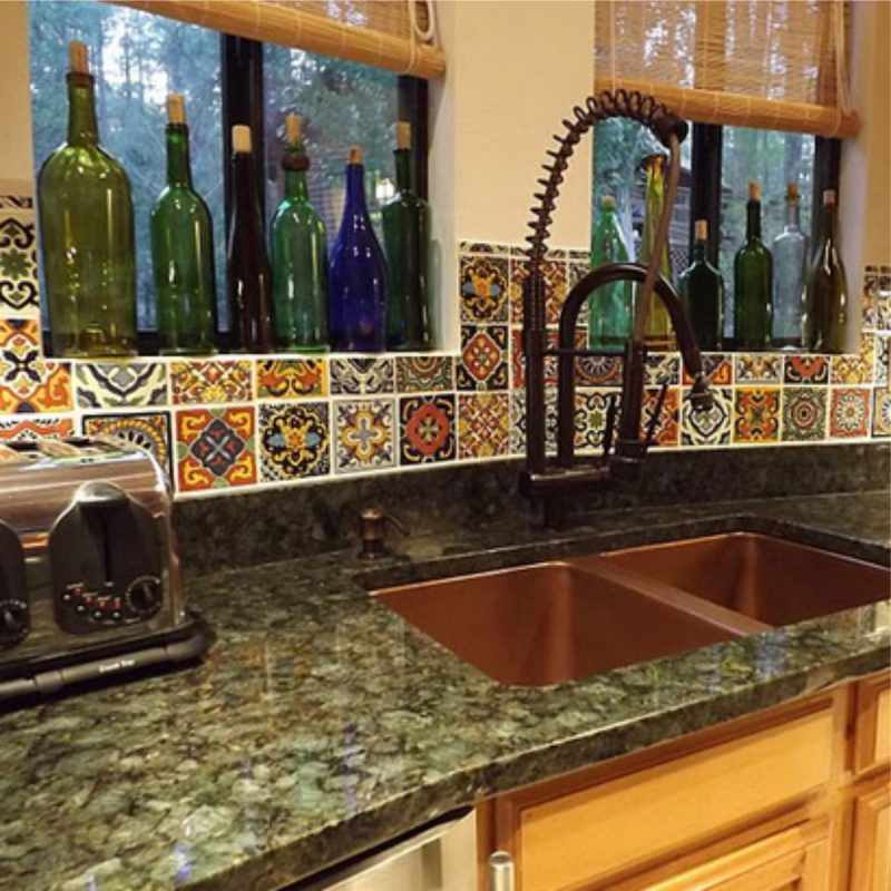 Lovely Bohemian Kitchen Backsplash