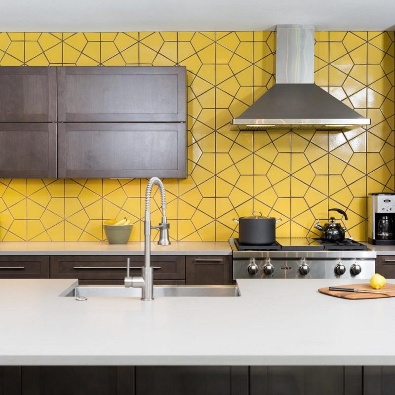 Stunning Hexagon Tile Backsplash