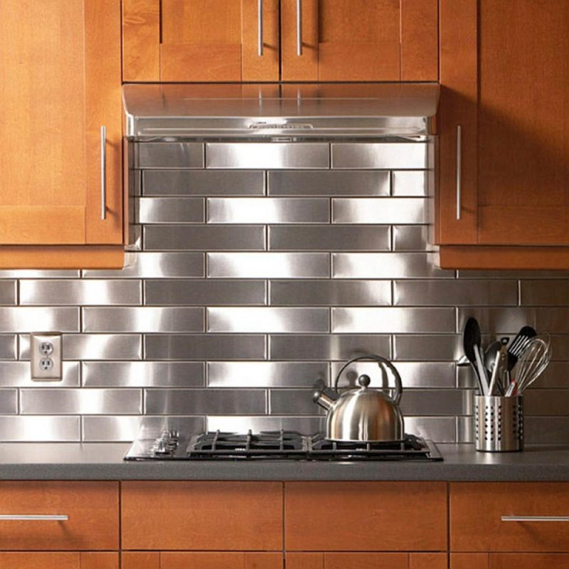 Dazzling Stainless Kitchen Backsplash Ideas