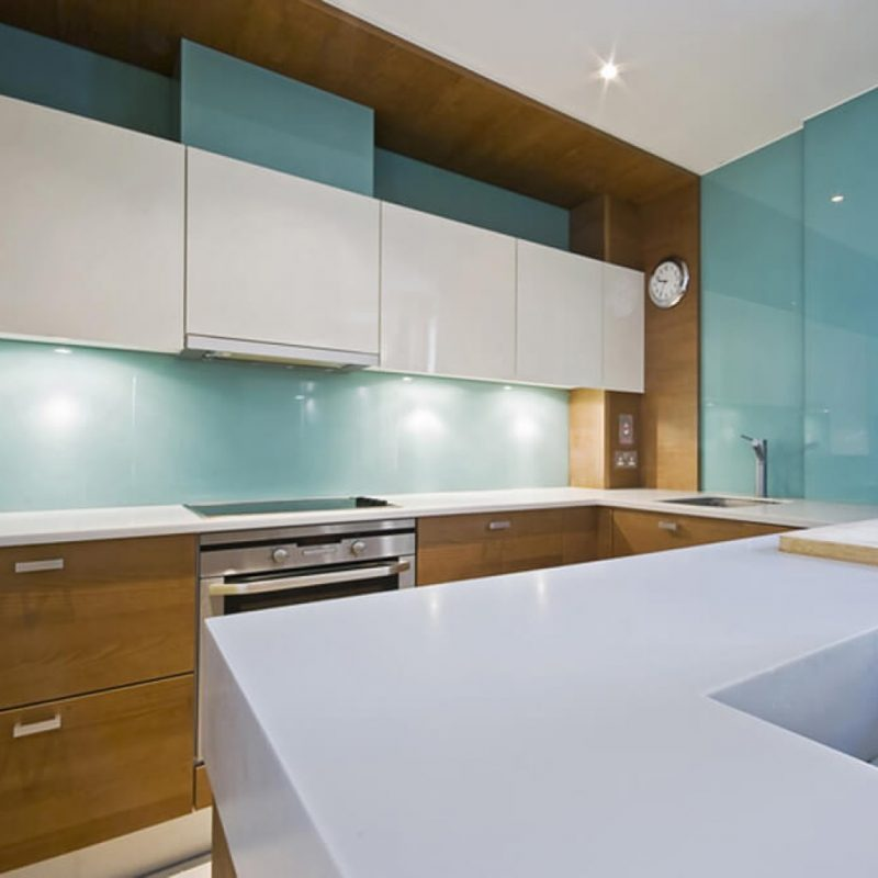 Awesome Tinted Glass Backsplash