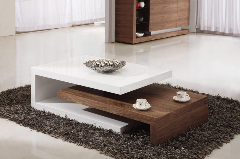 Eclectic Mid Century Glass Coffee Table