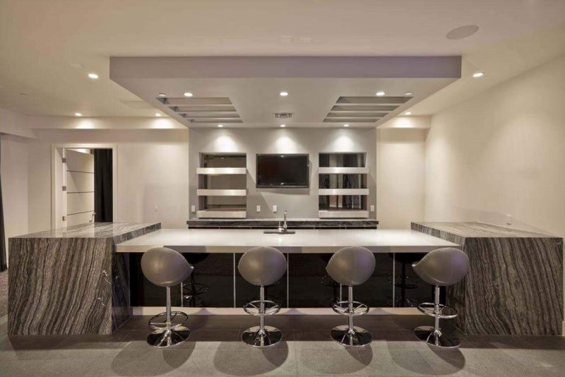 Gray Home Bar