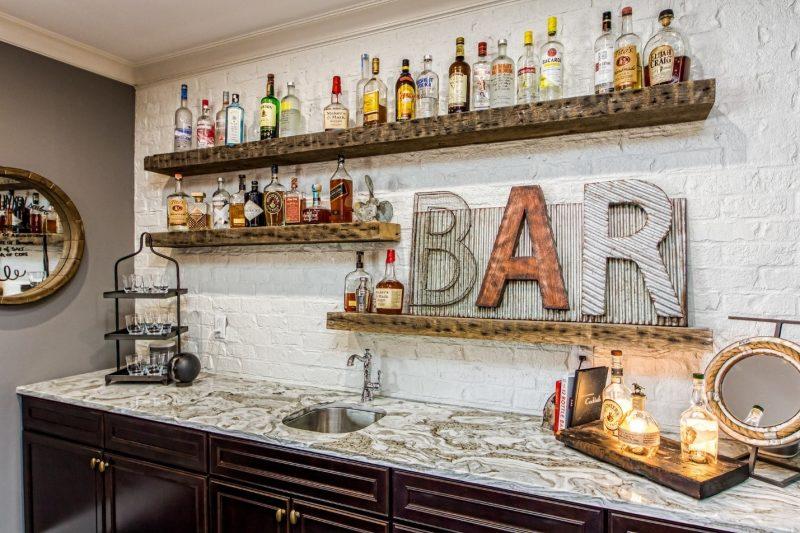 Home Bar Shelving Ideas