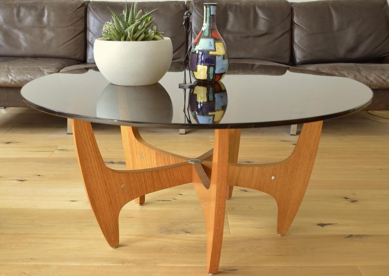 Mid Century Modern Glass Coffee Table