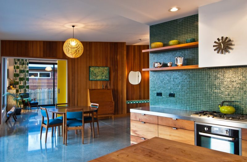 Mid Century Modern Kitchen Tile