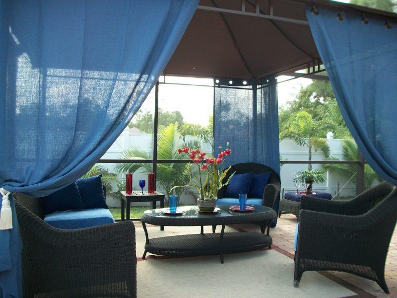 Screen Porch Curtain Ideas