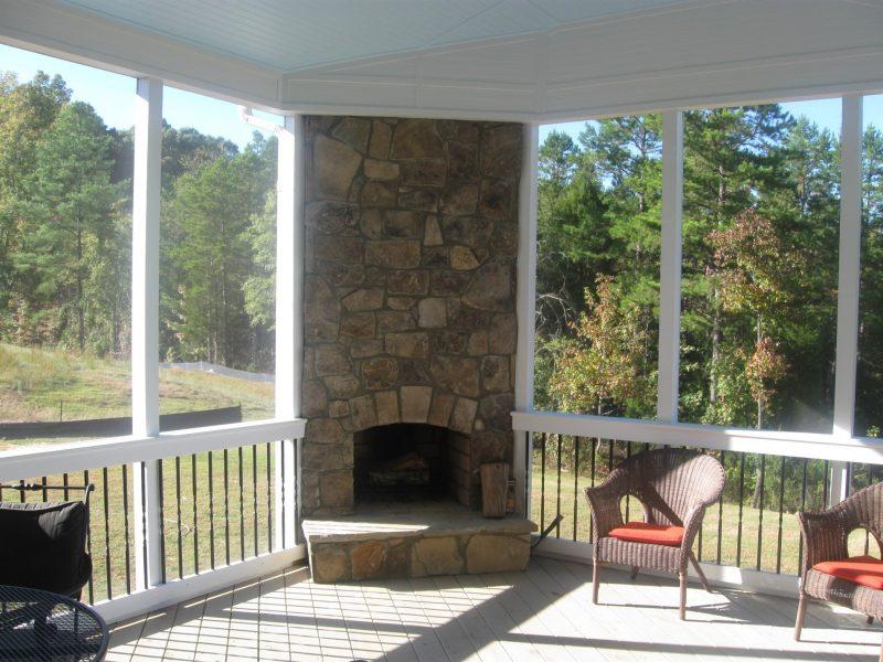 Screen Porch Fireplace Ideas