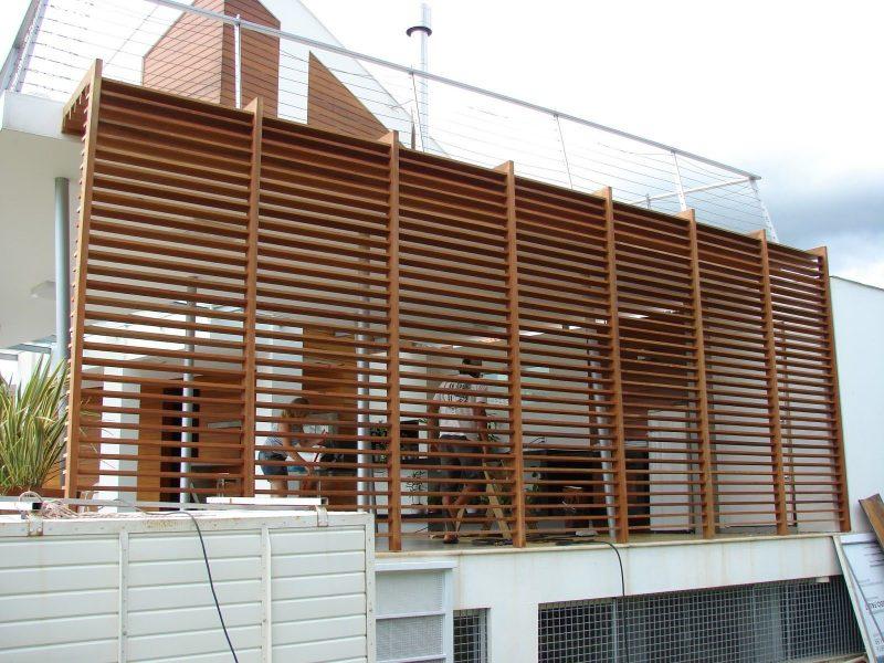 Wood Panel Screen Porch